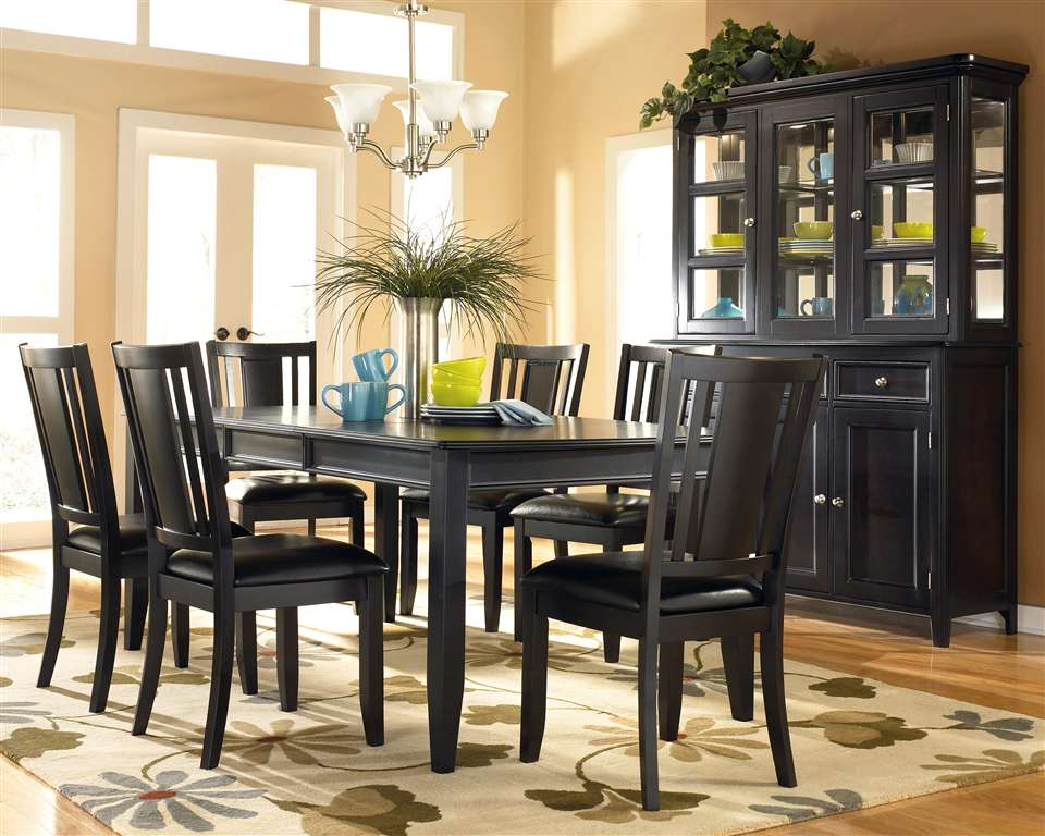 Best All Black Dining Room Set Fascinating Black Formal Dining Room Set 97 With Additional Glass