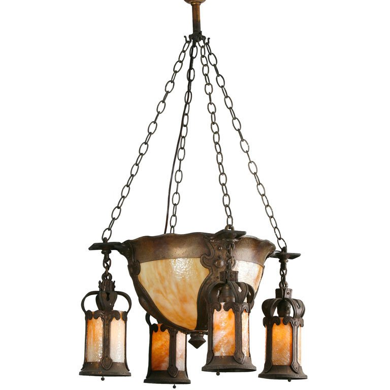 Best Arts And Crafts Chandelier Arts And Crafts Chandelier At 1stdibs