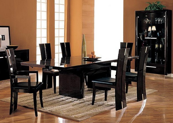 Best Black Dining Room Set Black Dining Room Furniture Sets Gorgeous Decor Black Wood Dining
