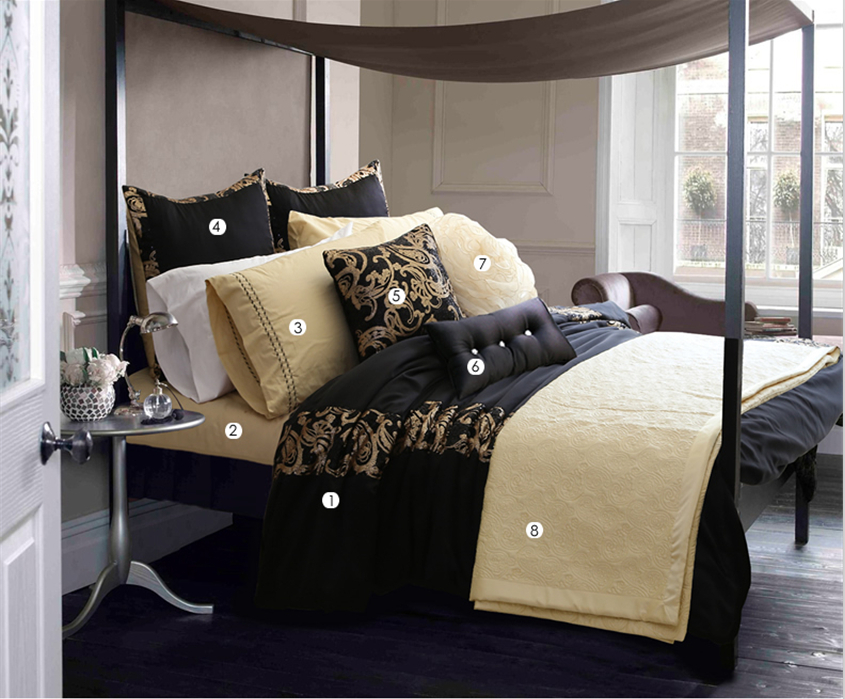 Best Black Luxury Bedding Hotel Bedspreads Designer Bedding Setsblack Luxury Bedding