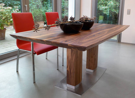Best Contemporary Wood Dining Table Home Design Extraordinary Contemporary Solid Wood Dining Table