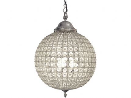 Best Crystal Ball Chandelier Pewter Crystal Ball Chandelier