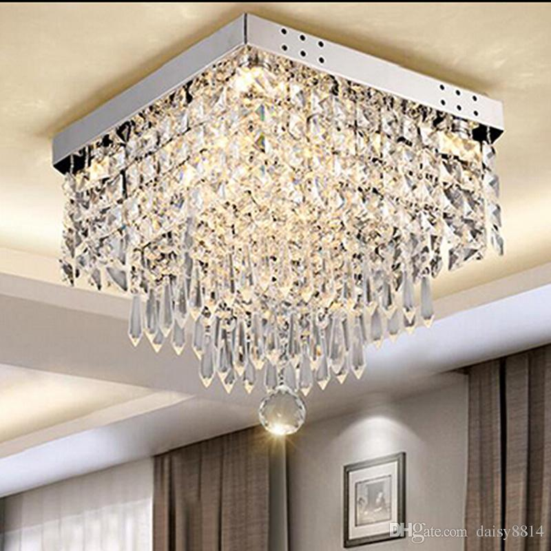 Best Crystal Ceiling Lights 2018 New Square Crystal Ceiling Lights Modern Ceiling Lamp Lustre