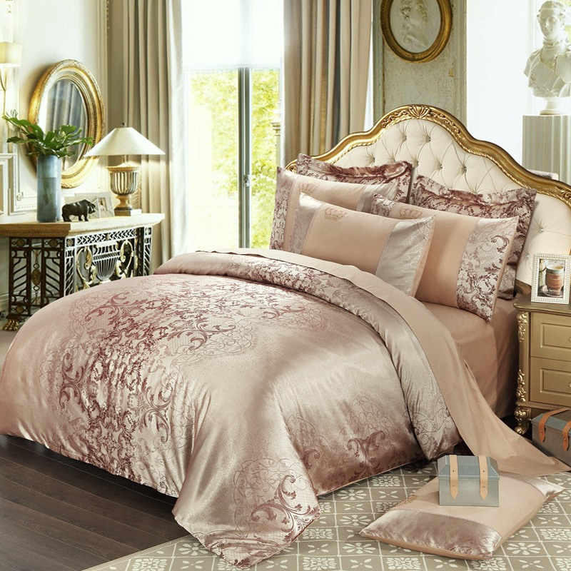 Best High End King Beds Aliexpress Buy High End Cotton Jacquard Winter Thick Gold