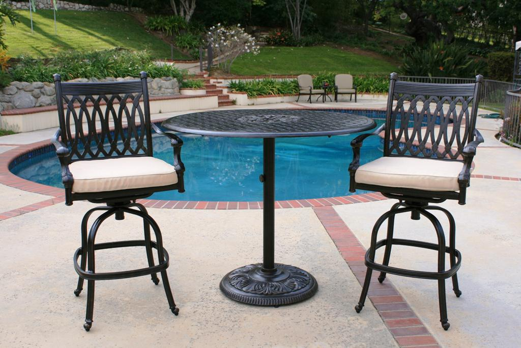 Best High Top Patio Furniture Inspiring Bistro Patio Sets With High Top Bistro Patio Set