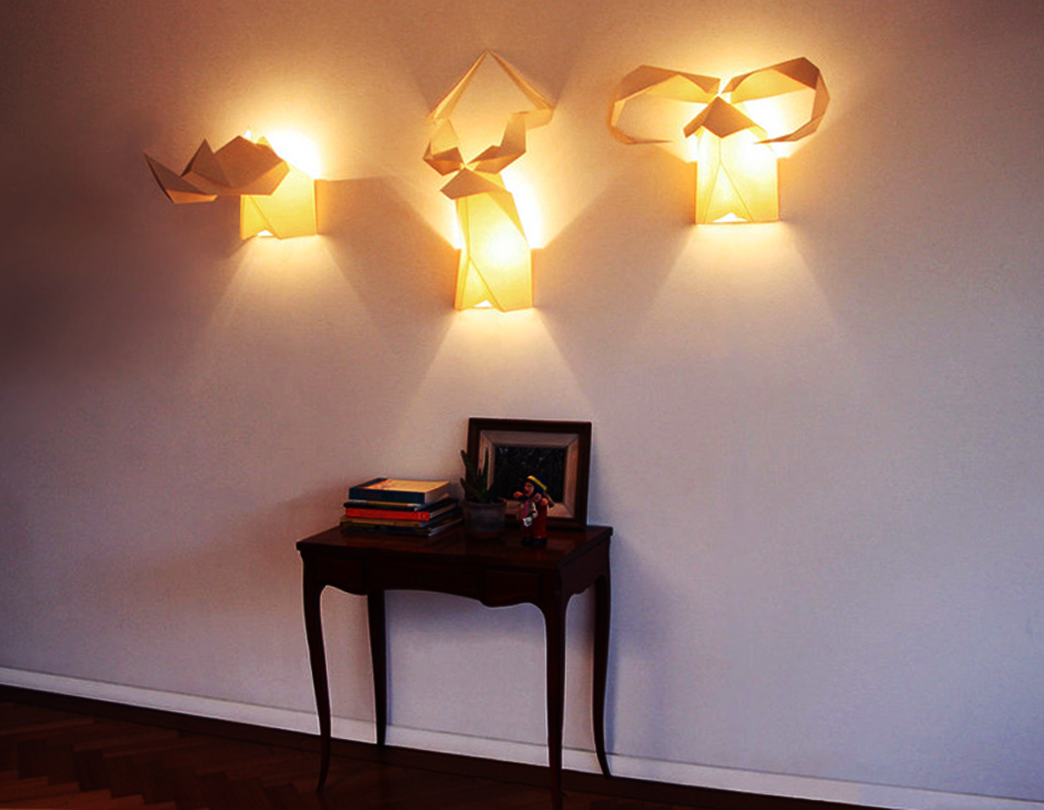 Best Lamps And Lighting Creative Lighting Idea With Origami Wall Lamps And Fixtures Room