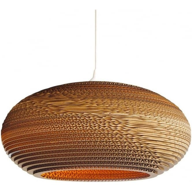 Best Large Ceiling Pendant Oval Disc Shaped Ceiling Pendant Light In Recycled Corrugated
