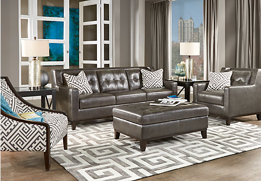 Best Leather Living Room Living Room Impressive Gray Leather Living Room Furniture