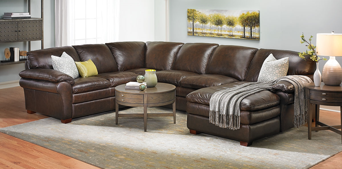 Best Leather Sectional Sofa Winfield Leather Sectional Sofa Haynes Furniture Virginias