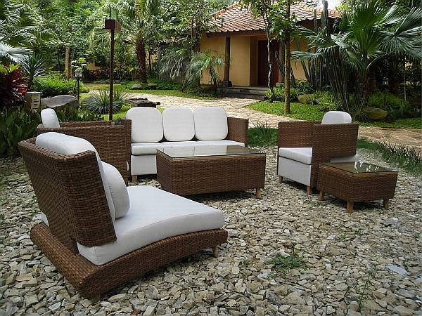 Best Luxury Outdoor Patio Furniture Wonderful Outdoor Porch Furniture With Rattan On Pabble And