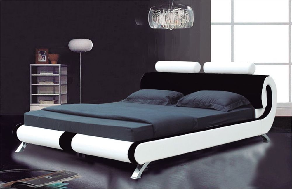 Best Modern Italian Bed Modern Italian Designer Double King Size Leather Bed 2 Colours