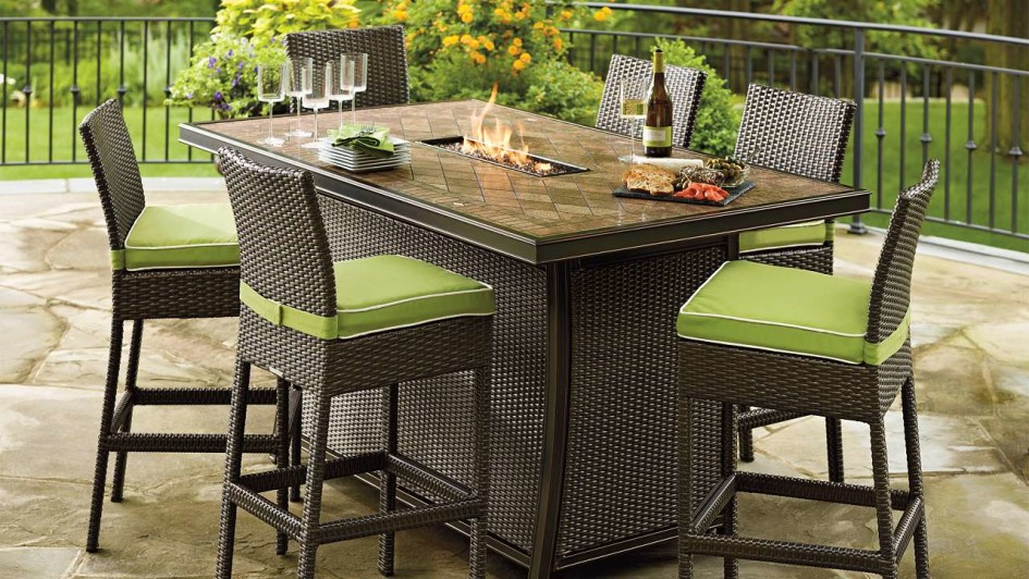 Best Patio Furniture High Table Furniture Ideas Counter Height Patio Furniture With Wooden Round