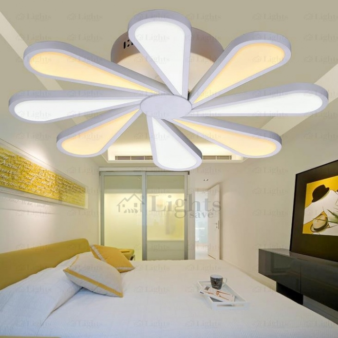 Best Popular Ceiling Lights Hardware And Acrylic 10 Blade Ceiling Fan Led Lights Pertaining To