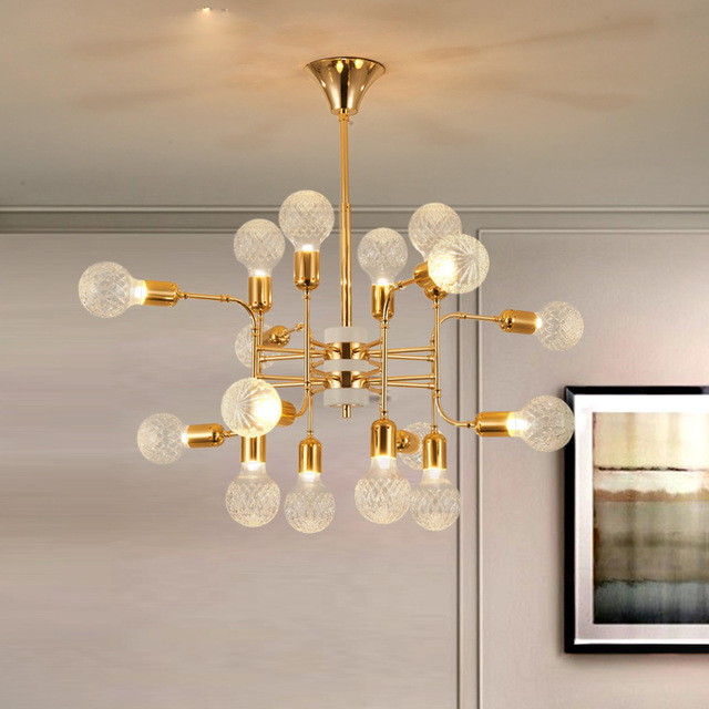 Brilliant Ball Chandelier Light Delightful Glass Ball Chandelier Lighting Luxury Project Light 12