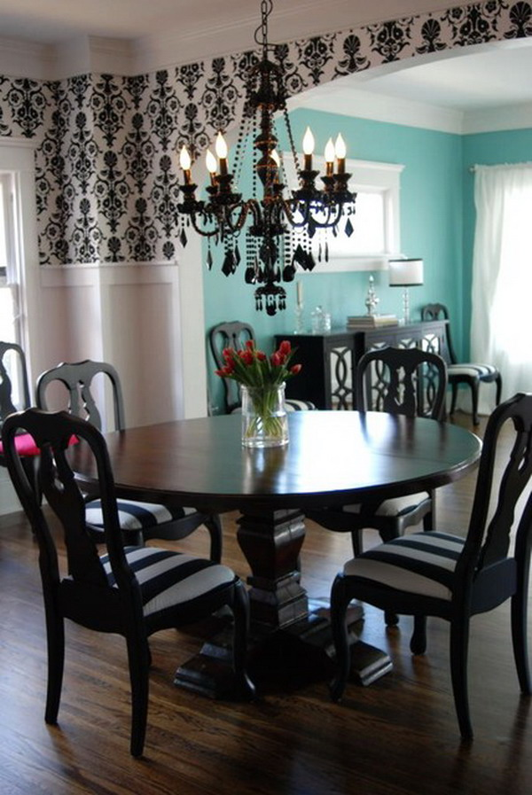 Brilliant Black Chandelier Dining Room Black Chandelier Dining Room For Fine Yellow And Black Dining
