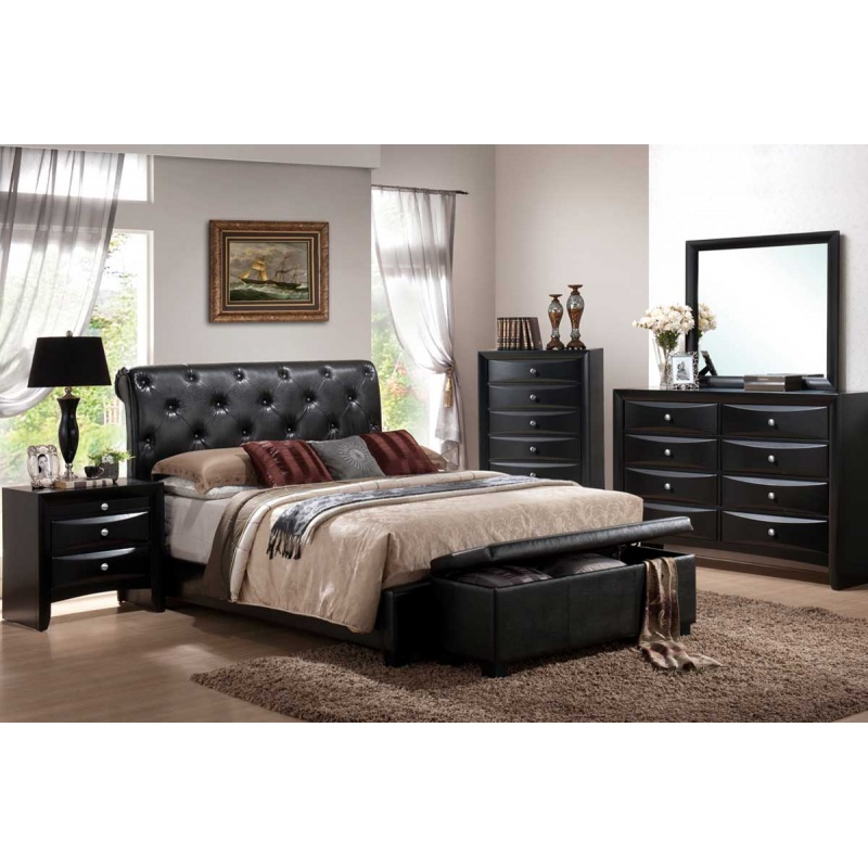 Brilliant Black Leather Bedroom Set Manificent Design Leather Bedroom Set Black Leather King Bedroom