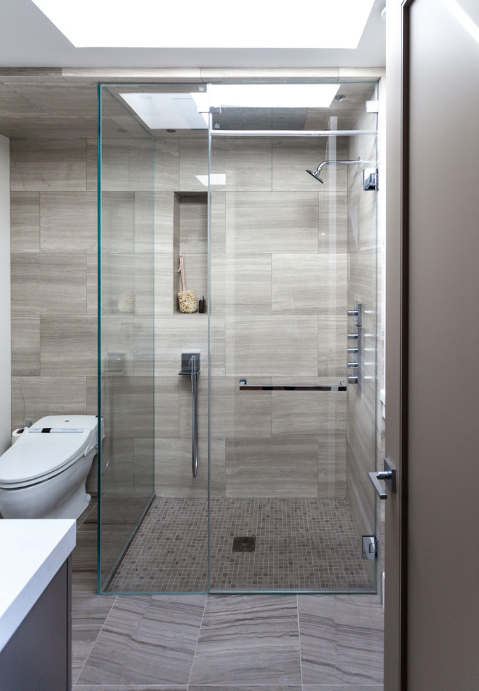 Brilliant Contemporary Bathroom Showers Shower Tiles Ideas Bathroom Contemporary With Gray Stone Wall Gray