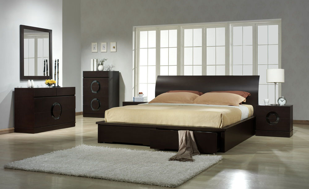Brilliant Contemporary King Bedroom Sets Modern Bedroom Sets King Arabian Platform 5 Piece Bedroom Inside