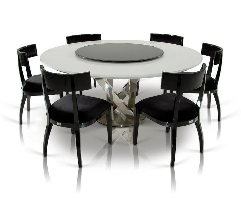 Brilliant Contemporary Round Dining Table For 6 Contemporary Round Dining Table For 6 Contemporary