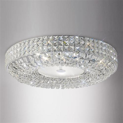Brilliant Crystal Ceiling Lights Enya Crystal Ceiling Light Il31202 The Lighting Superstore
