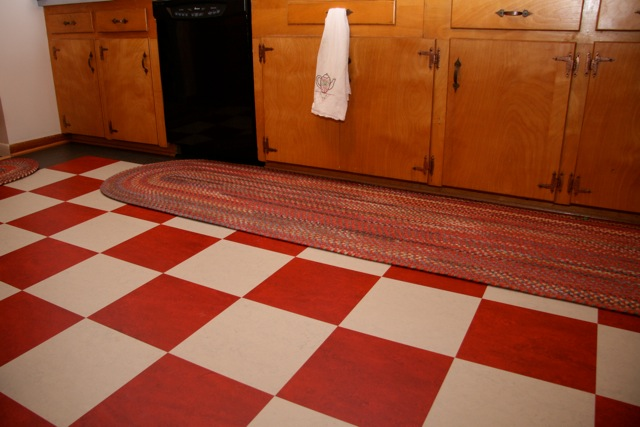 Brilliant Floor Tile Linoleum Squares Red And White Checkerboard Floor Where To Find It Retro Renovation