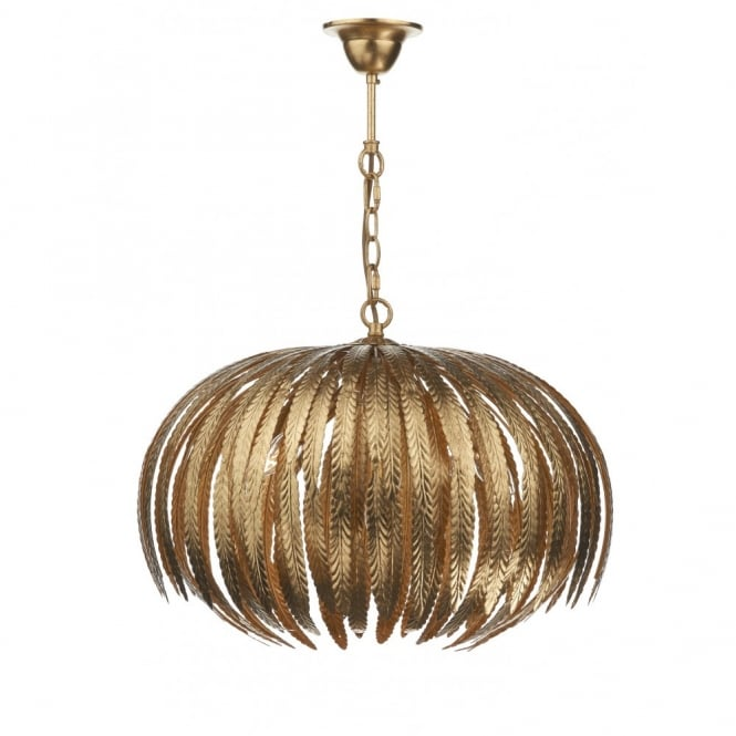 Brilliant Gold Ceiling Lamp Gold Ceiling Pendant Leaf Design Ideal For Modern Properties