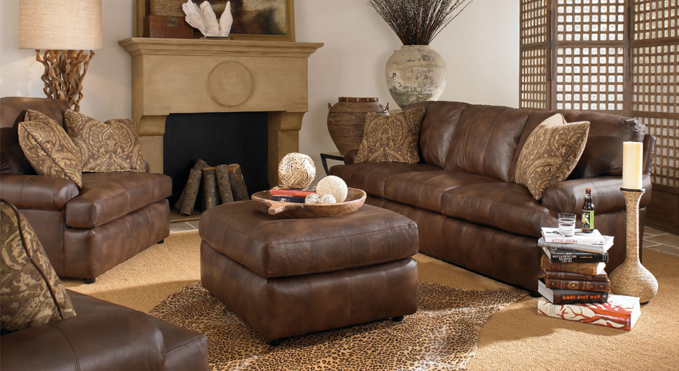 Brilliant Leather Living Room Living Room Engaging Rustic Leather Living Room Sets Furniture