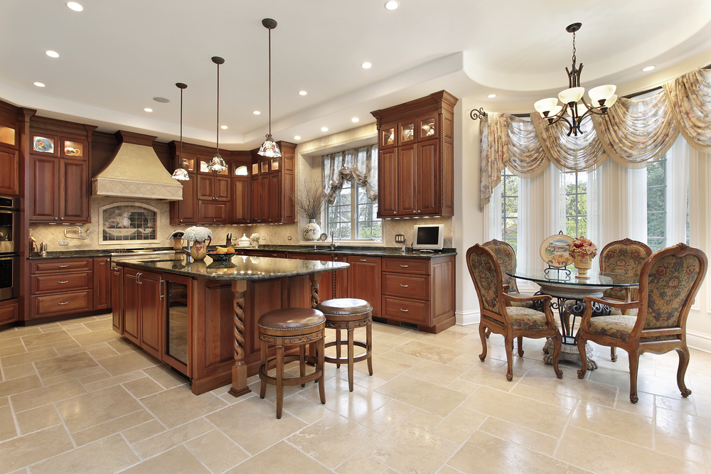 Brilliant Luxury Kitchen Floor Tiles Luxury Kitchen Design 1 Peachy Design U Shaped In Upscale Home