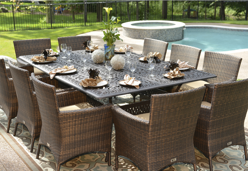 Brilliant Luxury Outdoor Dining Furniture Create An Attractive Looks Of House With Luxury Outdoor Furniture