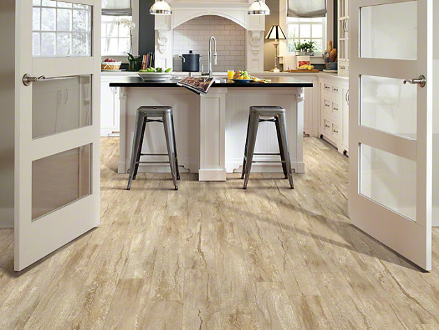 Brilliant Lvt Kitchen Flooring Shaw Classico Plank Lvt Click Lock Latte Traditional Kitchen