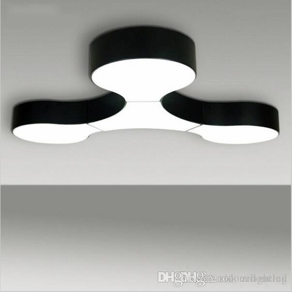Brilliant Modern Black Ceiling Light 2018 Modern Ceiling Lamp Massive Project Free Combination Lamps