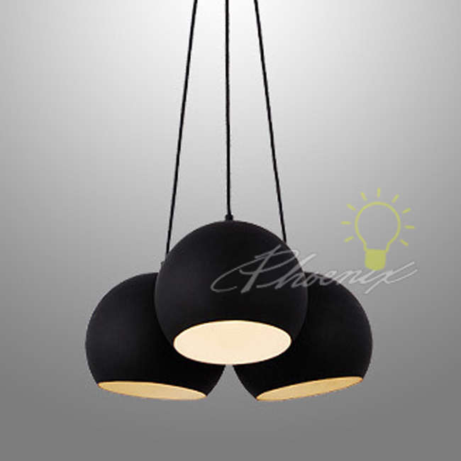 Brilliant Modern Black Light Fixtures Modern Black Ball Metal Pendant Lighting 7415 Free Ship Browse