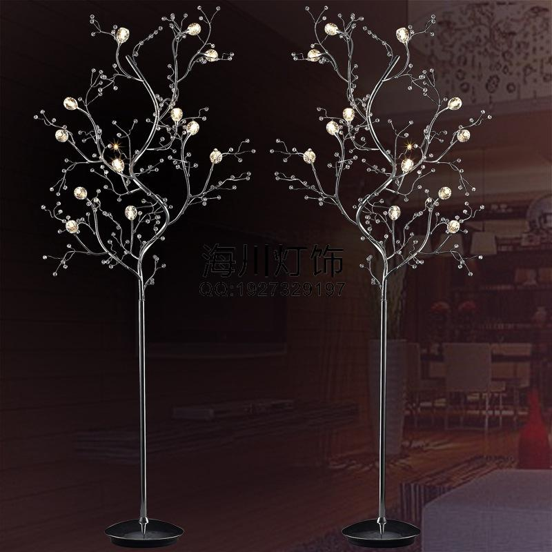 Brilliant Upscale Floor Lamps 2018 Branch Crystal Floor Lamp Living Room Bedroom Bedside Lamp