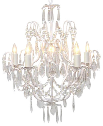 Brilliant White Crystal Chandelier White Wrought Iron Crystal Chandelier Traditional Chandeliers