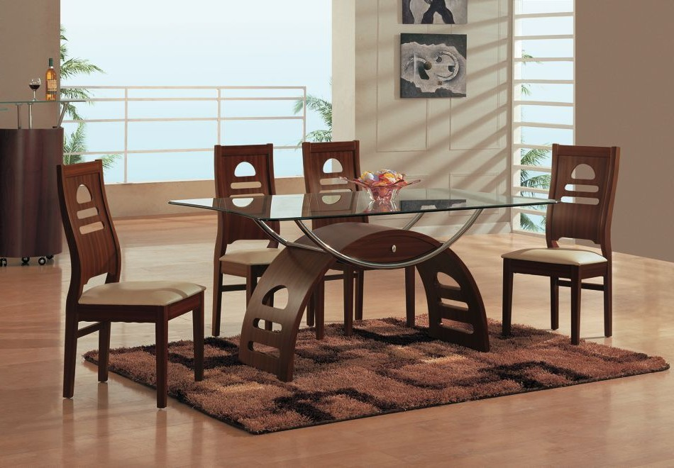 Brilliant Wooden Glass Dining Table Designs Magnificent Glass Topped Dining Table And Chairs Dining Room Great