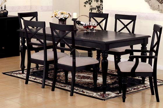 Chic Black Dining Room Table And Chairs Living Room Black Dining Room Sets Black Dining Room Sets Black