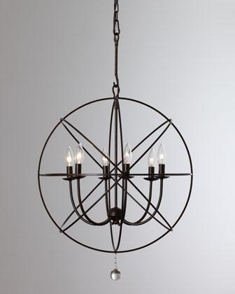 Chic Black Sphere Chandelier Wrought Iron Sphere Chandelier Neiman Marcus