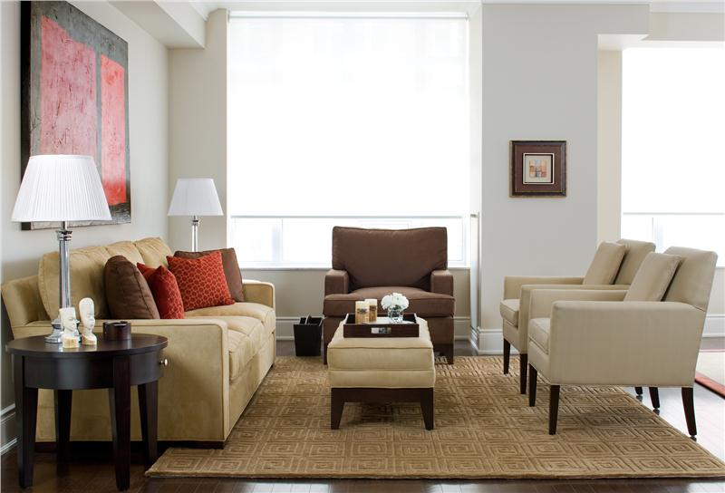 Chic Casual Living Room Furniture Contemporary Living Family ...