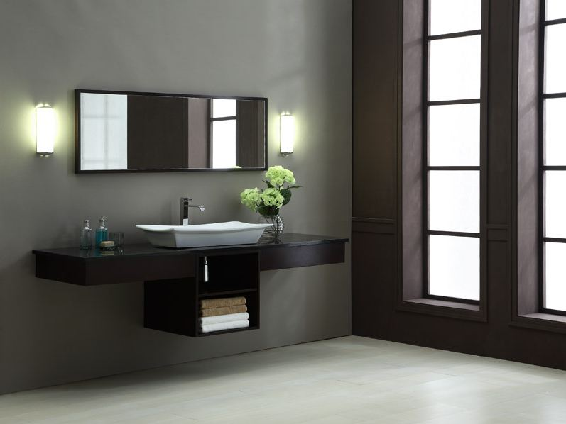 Chic Contemporary Bath Cabinets Double Sink Contemporary Bathroom Vanity Set Penthouse15 Modern