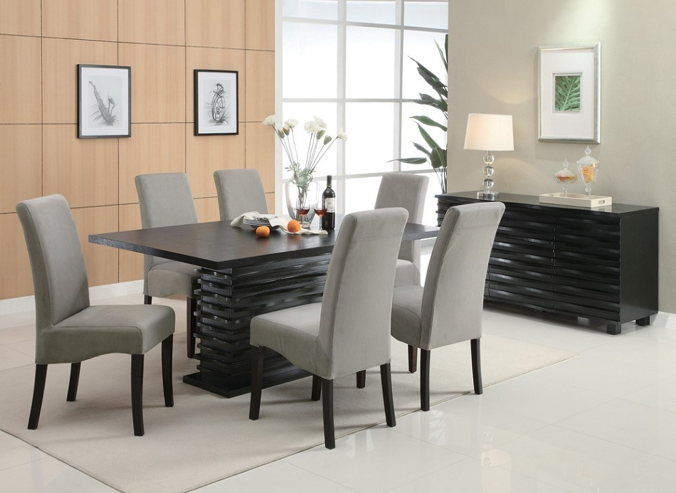 Chic Contemporary Dining Set Dreamfurniture 102061 Stanton Contemporary Dining Set Grey