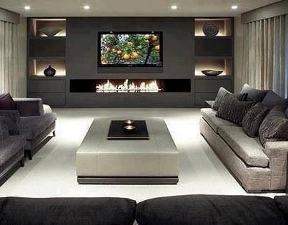 Chic Contemporary Living Room Love This Contemporary Living Room Its Clean Lines