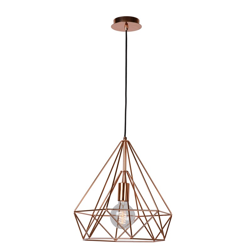 Chic Copper Ceiling Light Ricky Ceiling Pendant Copper Lighting Direct