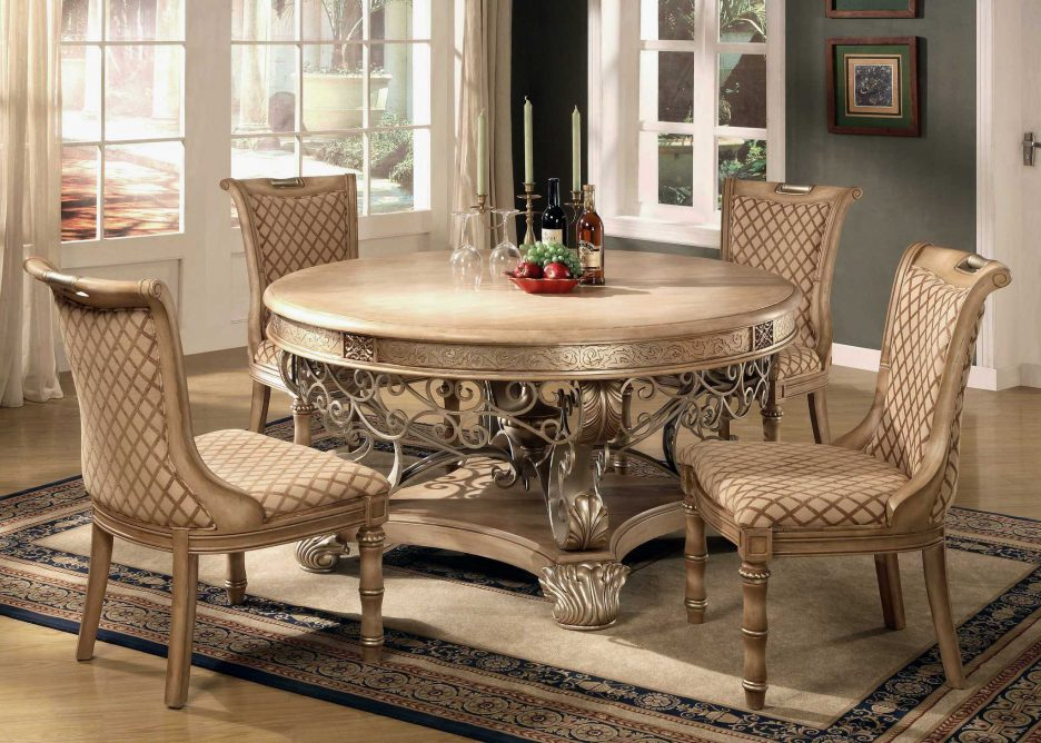 Chic Elegant Dining Set Dining Room Contemporary Dining Room Chairs With  Arms Dining Set