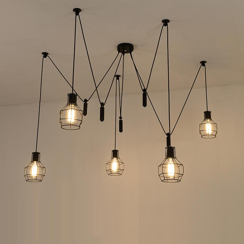 Chic Hanging Lamps For Ceiling Spider Pendant Lights Led Spider Light Modern Lamp Single Pulley