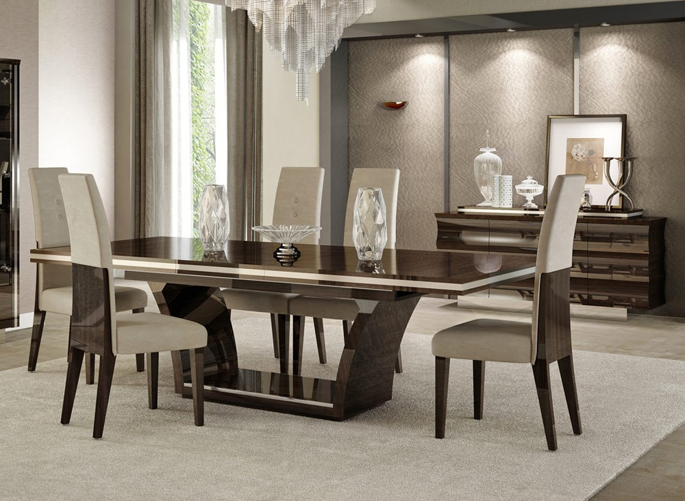 Chic Italian White Dining Table Italian Dining Room Sets Furniture Phoebe Round Table 9 Modern 19