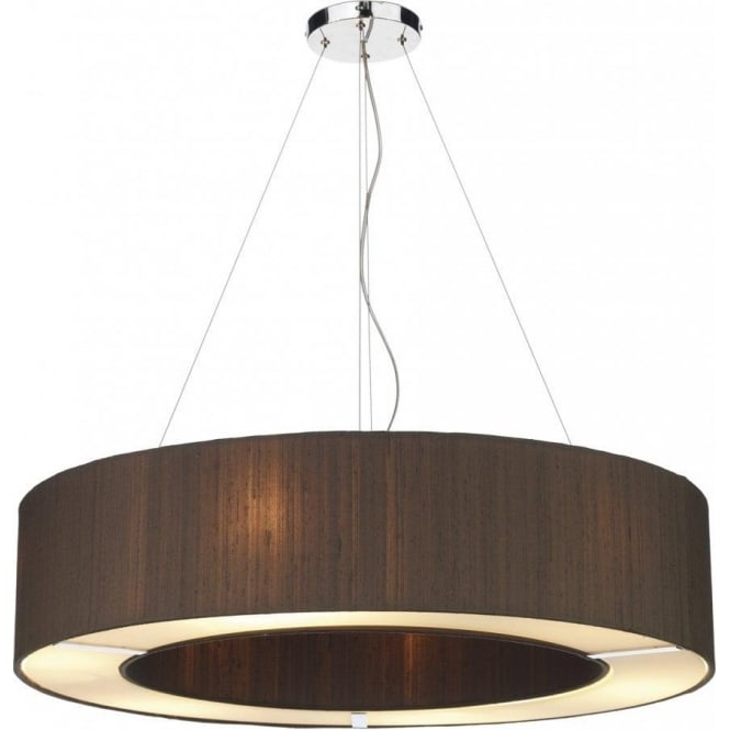 Chic Large Ceiling Pendant Dar Silk Collection Polo Large 6 Light Ceiling Pendant With 100
