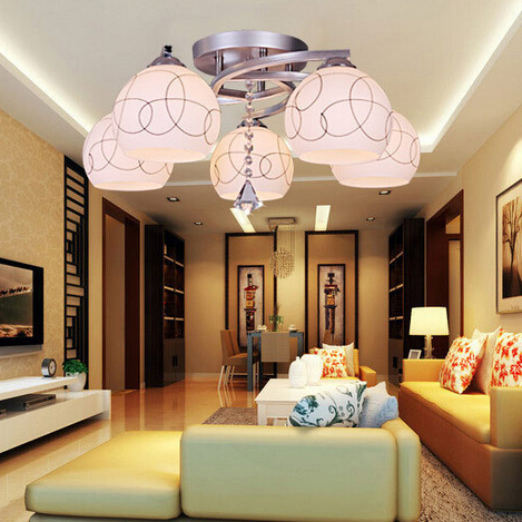 Chic Living Room Light Fittings Incandescent Ceiling Lighting Modern Ceiling Fixtures Bedroom