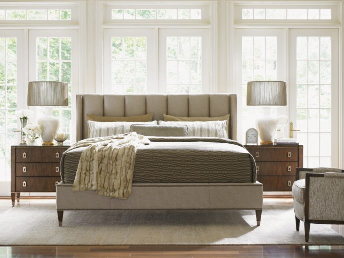 Chic Luxury Designer Beds Bedroom Luxury Italian Platform Beds Solid Wood With Storage