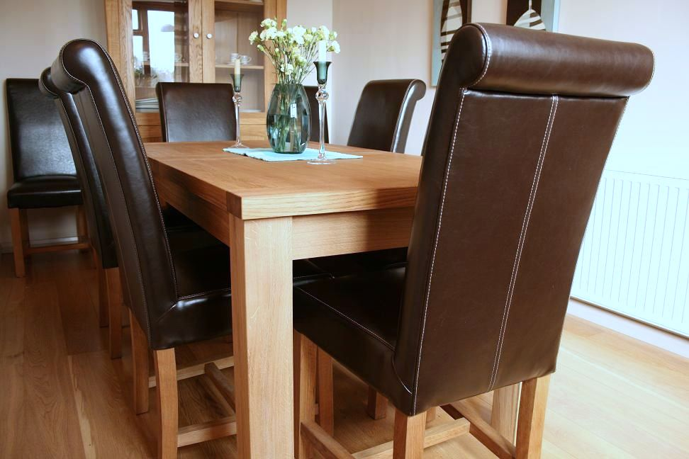 Chic Luxury Leather Dining Chairs Luxury Dining Table Set Full Leather Titan Chairs