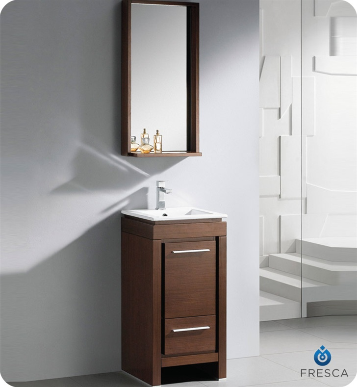 Chic Modern Bathroom Vanities For Small Bathrooms Fresca 16 Allier Small Modern Bathroom Vanity Wenge Finish